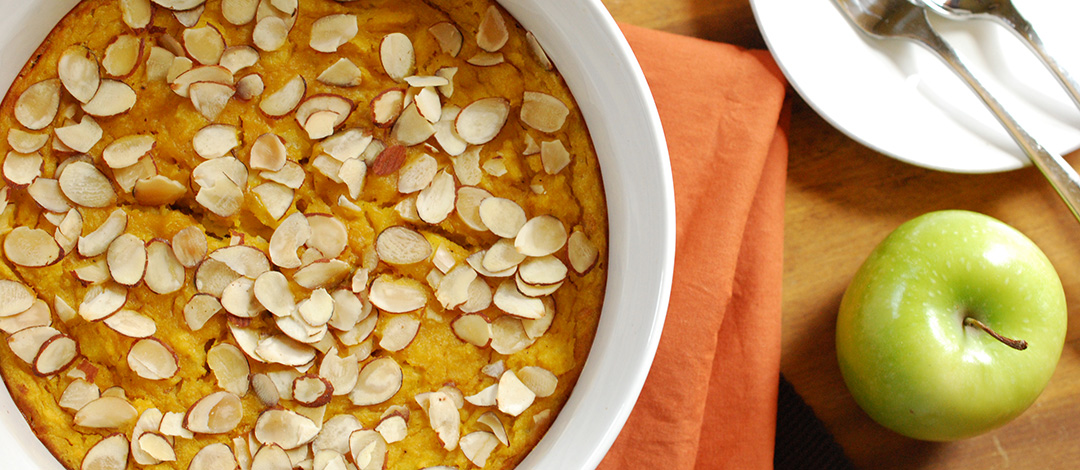 Curried Acorn Squash Bread Pudding