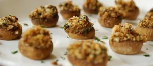 Mushrooms Stuffed with Herb Breadcrumbs