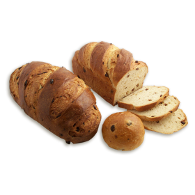 Traditional Egg Bread with Raisins