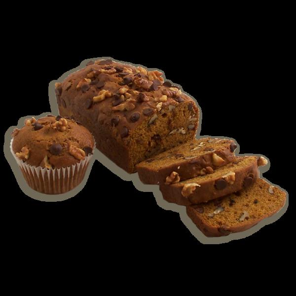 Pumpkin Chocolate Chip Walnut Dessert Bread