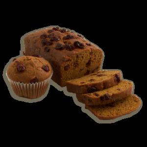 Pumpkin Cranberry Dessert Bread