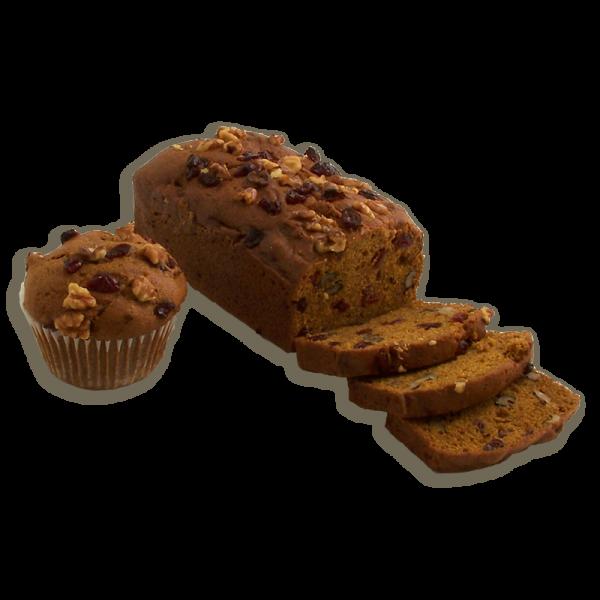 Pumpkin Cranberry Walnut Dessert Bread