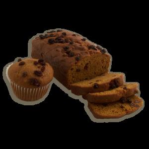 Pumpkin Raisin Dessert Bread