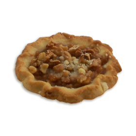 Apple Walnut Shortbread Tart